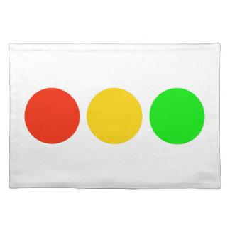 Stoplight Colors Place Mats