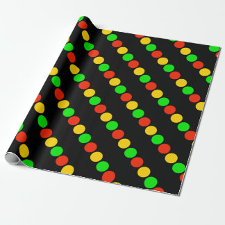 Stoplight Colors Wrapping Paper
