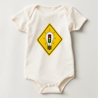 Stoplight Lightbulb Ahead Baby Bodysuit