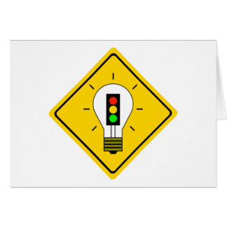 Stoplight Lightbulb Ahead Card