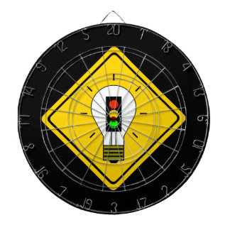 Stoplight Lightbulb Ahead Dartboard