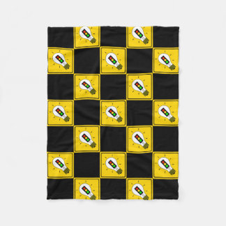 Stoplight Lightbulb Ahead Fleece Blanket