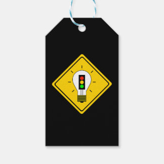 Stoplight Lightbulb Ahead Gift Tags