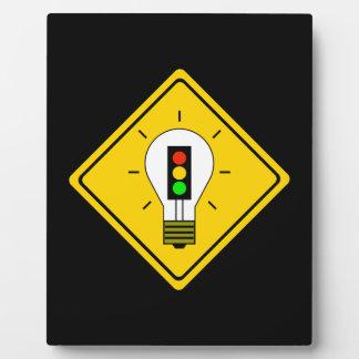 Stoplight Lightbulb Ahead Plaque