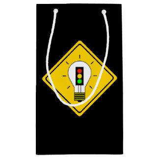 Stoplight Lightbulb Ahead Small Gift Bag