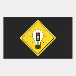 Stoplight Lightbulb Ahead Sticker
