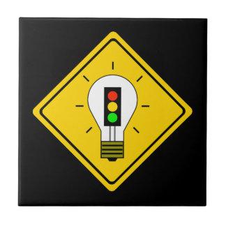 Stoplight Lightbulb Ahead Tile
