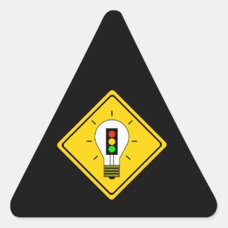 Stoplight Lightbulb Ahead Triangle Sticker