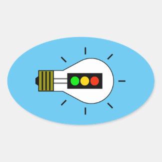Stoplight Lightbulb Oval Sticker