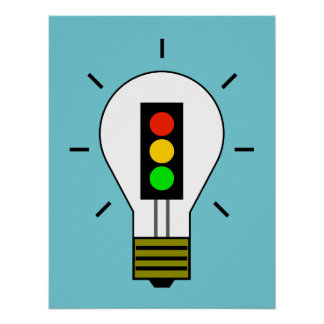 Stoplight Lightbulb Poster