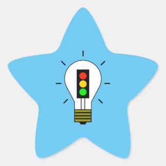 Stoplight Lightbulb Star Sticker