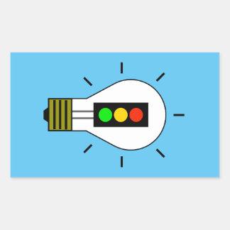 Stoplight Lightbulb Sticker