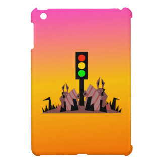 Stoplight with Bunnies, Dreamy Background Cover For The iPad Mini
