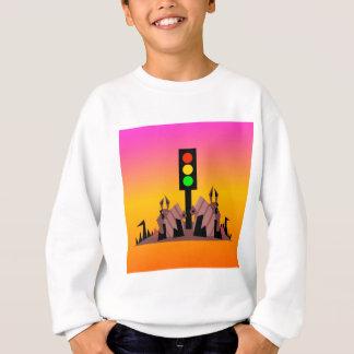 Stoplight with Bunnies, Dreamy Background Sweatshirt