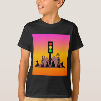 Stoplight with Bunnies, Dreamy Background T-Shirt