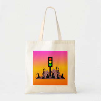 Stoplight with Bunnies, Dreamy Background Tote Bag