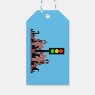Stoplight with Bunnies Gift Tags