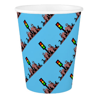 Stoplight with Bunnies Paper Cup