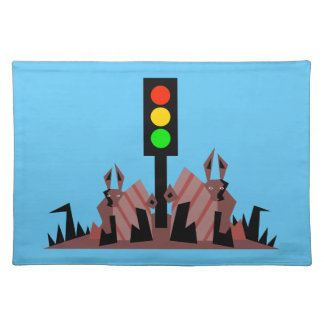 Stoplight with Bunnies Placemat