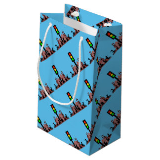 Stoplight with Bunnies Small Gift Bag