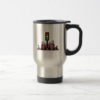 Stoplight with Bunnies Travel Mug