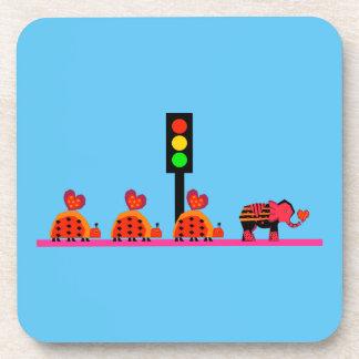 Stoplight with Heart Caravan Coaster
