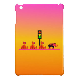 Stoplight with Heart Caravan, Dreamy Background iPad Mini Cover