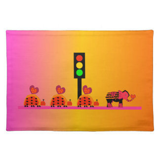 Stoplight with Heart Caravan, Dreamy Background Placemat