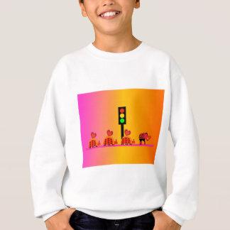 Stoplight with Heart Caravan, Dreamy Background Sweatshirt