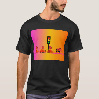 Stoplight with Heart Caravan, Dreamy Background T-Shirt