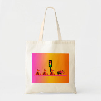 Stoplight with Heart Caravan, Dreamy Background Tote Bag