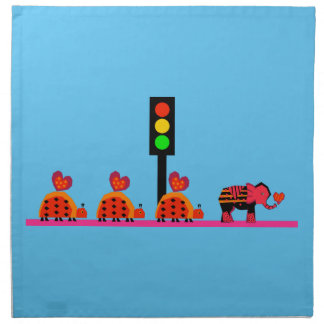 Stoplight with Heart Caravan Napkin