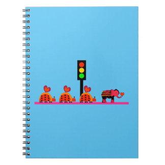 Stoplight with Heart Caravan Notebook