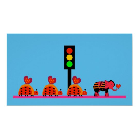 Stoplight with Heart Caravan Poster