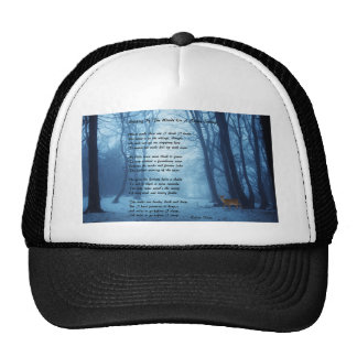 Stopping By The Woods by: Robert Frost Trucker Hat