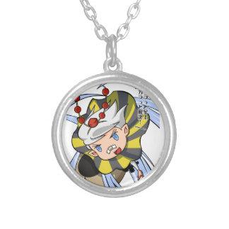Stopping permission! Empty tsu Kazetarou English Silver Plated Necklace