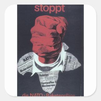 Stoppt Propaganda Poster Square Sticker