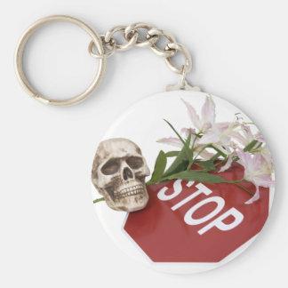 StopSignSafety051409 Keychain