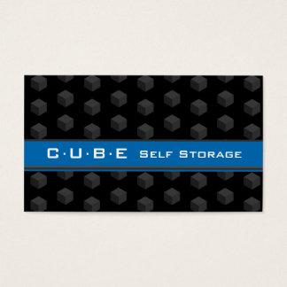Storage Business Card Cube Box Black Blue 3D
