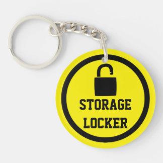 Storage Lock Easy To Locate Double-Sided Round Acrylic Keychain