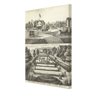 Store and residence of DA Walling Canvas Print