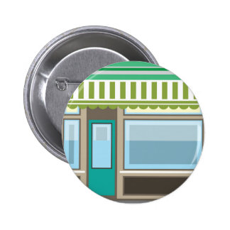 Store Front Vector 2 Inch Round Button