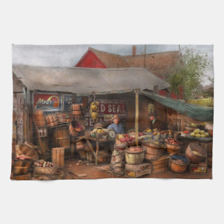 Store - Fruit - Grand dad's fruit stand 1939 Kitchen Towel