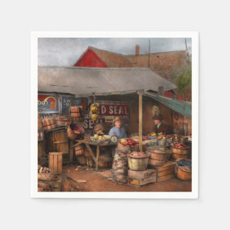 Store - Fruit - Grand dad's fruit stand 1939 Paper Napkin