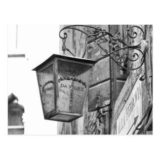 Store Lamp, Venice, Italy Postcard