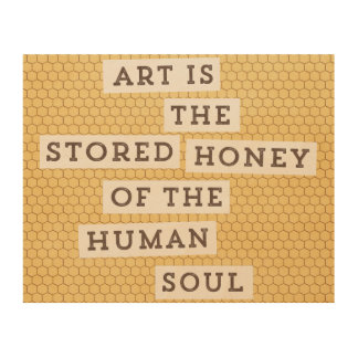 Stored Honey Wood Print
