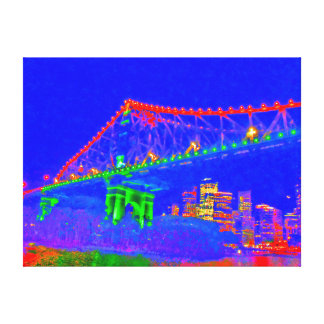 STOREY BRIDGE BRISBANE AUSTRALIA ART EFFECTS CANVAS PRINT