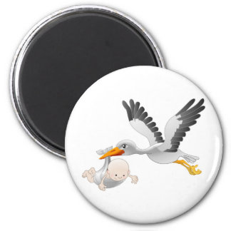 stork and baby magnet