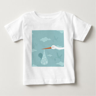 Stork and the kid baby T-Shirt