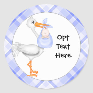 Stork & Baby Boy Stickers